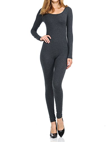 - 31zXRIuhs2L - Ladybug Women Catsuit Cotton Lycra Tank Long Sleeve Yoga Bodysuit Jumpsuit