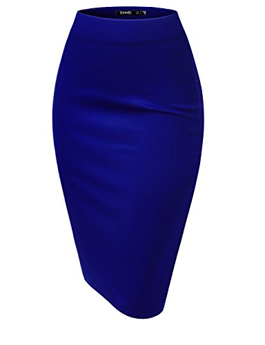 TWINTH Womens Lightweight Slim Fit Skirts ROYALBLUE,3XL (Light Blue Pencil Skirt compare prices)