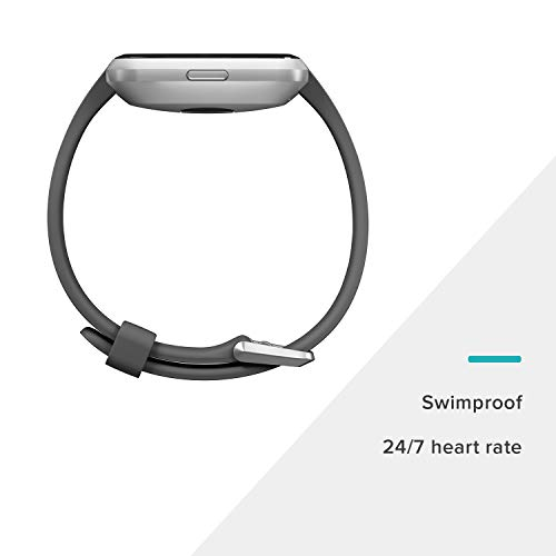 Fitbit Versa Lite Smartwatch, Charcoal/Silver Aluminum, One Size (S & L Bands Included) by Fitbit (Image #5)