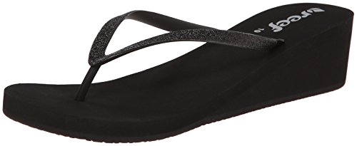 Reef Women's Krystal Star Sandal, Black/Black, 7 M US