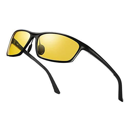 1fd972d08ba5 Night Vision Glasses For Driving,Al-Mg Polarized Sunglasses Oval Glasses  Anti Glare Safe