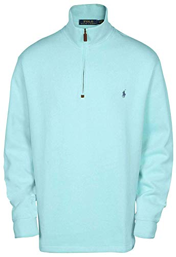 (Polo Ralph Lauren Men's Big & Tall Fleece 1/2 Zip Mock Sweater-Parakeet-1XB)