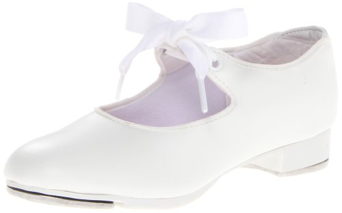 Capezio Jr.Tyette N625C Tap Shoe (Toddler/Little Kid),White,9 M US ()