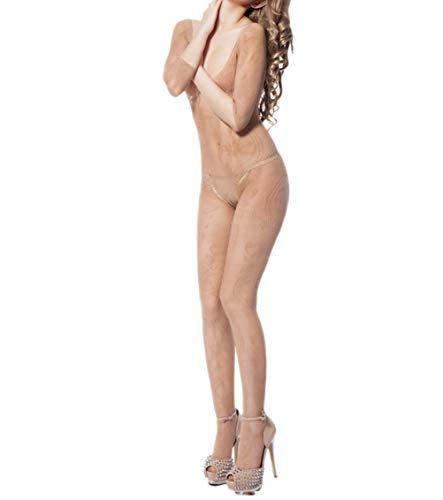 V-neck Fishnet Bodystocking - Fishnet Bodystockings Women Sexy Half Sleeve Mesh Lingerie Clubwear Fit S-XXL