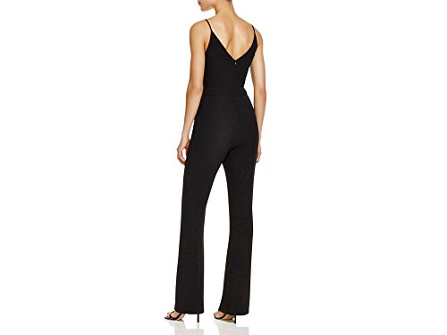 Black Halo Women's Maja V-neck Sleeveless Jumpsuit Black Size 4
