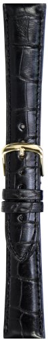 Hadley-Roma Men's MS2005RA-180 18-mm Black Genuine Alligator Leather Watch Strap