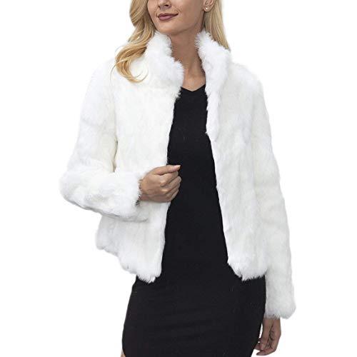 Giacca Prodotto Moda Plus Solidi Di Libero Lunga Outerwear Manica Calda Bianca Pelliccia Donna Collo Invernali Termico Colori Eleganti Sintetica Costume Tempo Coreana 0qAOgwr0x