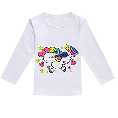 NUWFOR Toddler Baby Kids Boys Girls Spring Cartoon Print Tops T-Shirt Casual Clothes