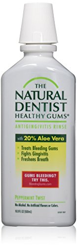 Natural Dentist Healthy Gums Antigingivitis Rinse Peppermint Twist 16.9 Ounce (Pack of 2)