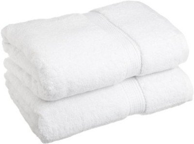 Kuber Industries 2 Piece 500 GSM Cotton Bath Towel Set - White