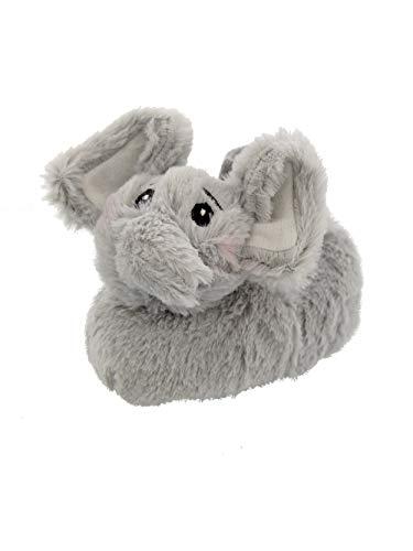 - Yankee Toy Box Plush Animal Toddler Boys Girls Sock Top Slippers (9-10 M US Toddler, Elephant Grey)