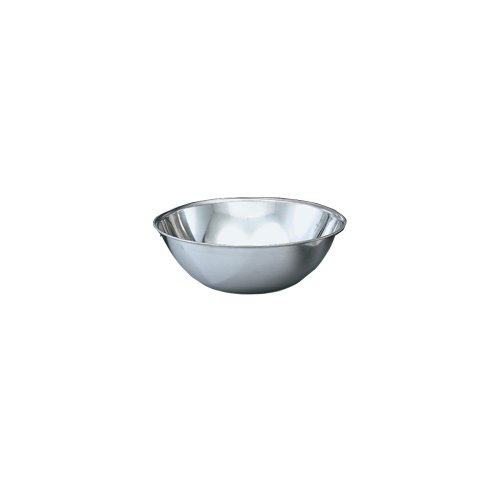 (Vollrath 47949 Bright Mirror Finish S/S 20-Quart Economy Stainless Steel Mixing Bowl, silver)