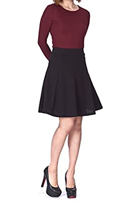 Dani's Choice Casual to Formal Stretch Gored Flared Trumpet Mermaid Knee Length Skirt