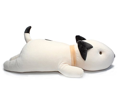 RockTrend Adorable Bull Terrier Dog Big Hugging Pillow Soft Plush Toy Stuffed Animals-White 21