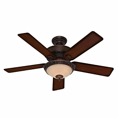 """Hunter 53200, Italian Country Cocoa 52"""" Ceiling Fan with Light"""