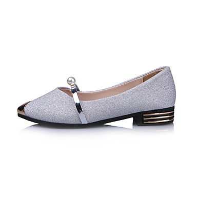 CN37 Metallic Light Walking Spring 5 EU37 Women'S Imitation Soles 5 Leather Loafers Low Light Slip 7 Toe Dress Nubuck Ons Casual Soles Summer Heel US6 amp;Amp; 5 UK4 Pearl OBTwO8fq