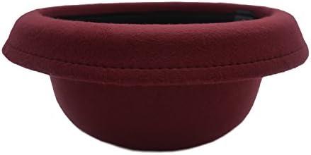 JEDAGX Vintage Style Frauen Woolen Roll-up Krempe Fedora Bowler Hat