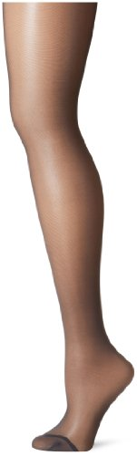 Berkshire Women's Plus-Size Queen Silky Sheer Control Top Pantyhose 4489, Off Black, 1X-2X ()