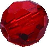 (Eagle Claw Lazer Red Faceted Glass Beads, 8 mm)
