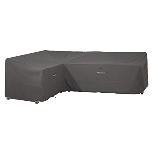 Polyester Sectional Chaise - Classic Accessories Ravenna Patio L-Shaped Sectional Sofa Cover, Left Facing