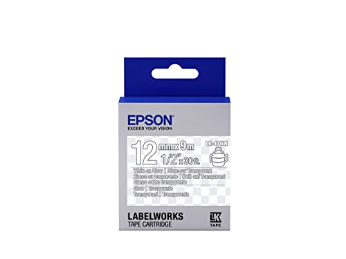 Epson LabelWorks Clear LK (Replaces LC) Tape Cartridge ~1/2