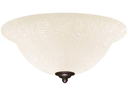 (Emerson Ceiling Fans LK77WW White Linen Light Fixture for Ceiling Fans, Medium Base CFL)