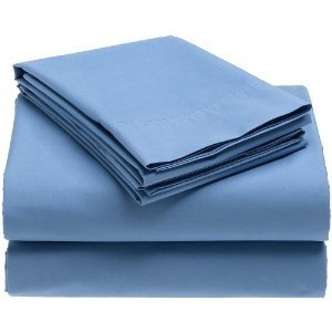 Crescent Dorm Room Sheet Set - Twin Extra-long 200 TC (Light Blue)