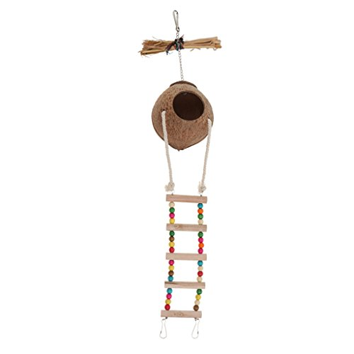 MagiDeal Handmake Natural Pet Parrot Toy Natural Coconut Shell Bird Nest House - #2 by Unknown (Image #10)
