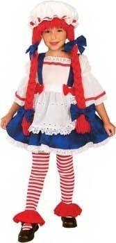 Toddler Little Rag Doll Costume - Rag Doll Girl Costume: Toddler's Size 2T-4T