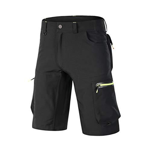 NAWING Men's Cycling Baggy Shorts Downhill Mountain Bike Riding Loose Fit Outdoor Sports Short Pants Black