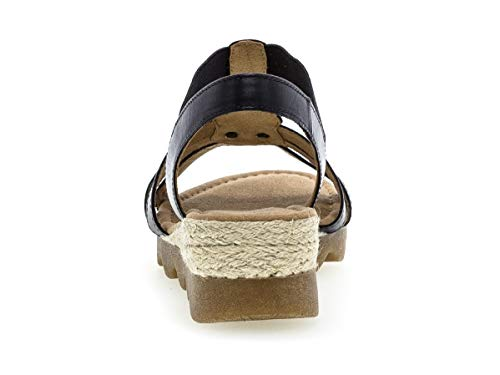 752 mehrweite cómodo comfort sandalia 22 confort plana Verano Verano sandalias Mujer sandalia Midnig Gabor Del zapatos Con Correa Tiras De ambra jute 5UCqwgw