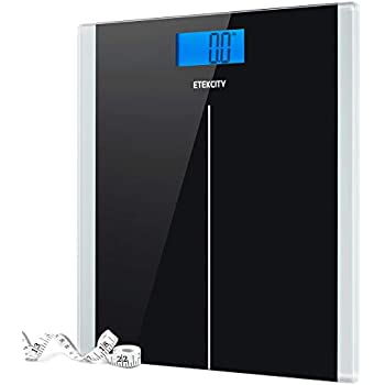 Etekcity Digital Body Weight Bathroom Scale with Step-On Technology, 400  Pounds, Body Tape Measure