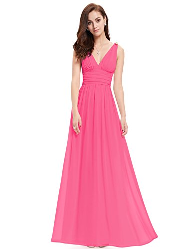 Ever Pretty Womens Long Chiffon Maxi Party Dress 14 US Hot Pink