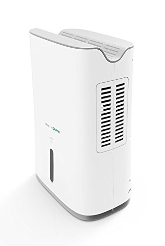 InvisiPure Hydrowave Dehumidifier - Small Compact Portable Dehumidifier for Home, RV, Bathroom, Closet, Bedroom, Small Room, Basement, Boat, Mold - Continuous Drain Hose Ready - Quiet Electric Peltier