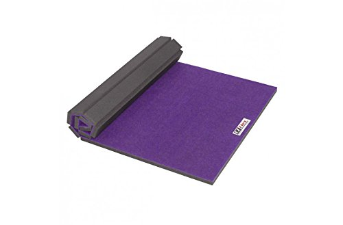 IncStores Deluxe Carpet Top Cheer Mats 5ft x 10ft x 1-3/8in Perfect for Cheerleading, Gymnastics, Exercise & Practice Pads (Purple)