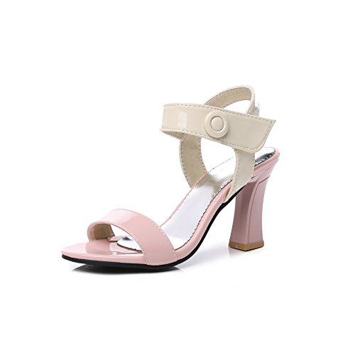 de Colourblock Bout 20 Pink Grande Femmes Boucle épaisseur Ouvert Une Détails Haut 99 A avec Talon Sandales Taille xqUfXZw