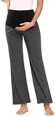 Jinson Women's Maternity Shorts Wide/Straight Comfortable Knee Capri Lounge Pregnancy P