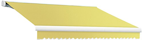 Awntech 10-Feet Key West Left Motorized Retractable Awning, 120-Inch Projection, Light Yellow