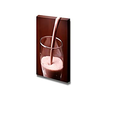 Canvas Prints Wall Art - Fresh Chocolate Milk Being Pored Out - 24
