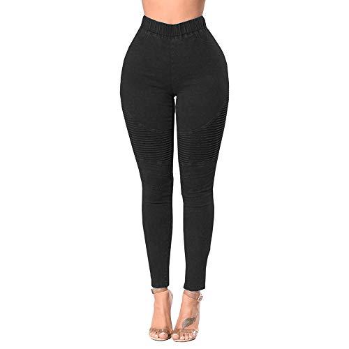 Donna Fitness Lqqstore jeans Leggings Stretch Caviglia Design Elastica Vita Magro Nero donne Moda Pantaloni Alta Crumpled Jeans Hf5qxnFfw