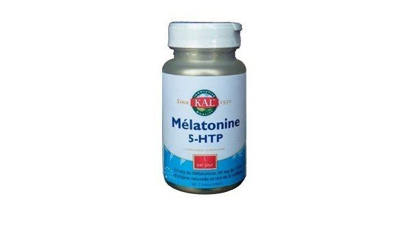 Solaray - Solaray Melatonina 1,9 mg + 5Htp 50 mg - 60 pastillas AP: Amazon.es: Belleza
