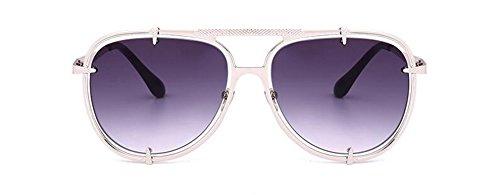 cercle retro de style soleil lunettes Lennon Un du rond en inspirées vintage polarisées métallique vZYdqw