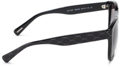 Lens Frame Over Grey amp; grey Sunglasses On Gabbana Black Women's Gradient All Dolce Plastic 4159p qyfS7wya
