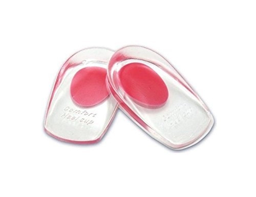 Silicone Heel Cup Gel Heel Cushion Insoles Soles Foot Pain Spur Support Pad (RED (110*70*20mm))