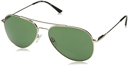 Calvin Klein Ck18105s Aviator Sunglasses, Gold/Green, 59 mm by Calvin Klein