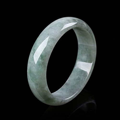 HSUMING Old Pit Ice Kind Jade Bangle Bracelets for Women, Best Gift for Mom Wife,56