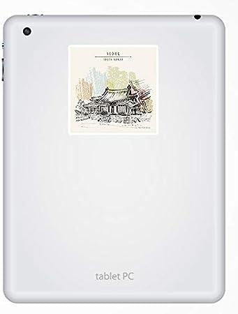 2 x South Korea Vinyl Sticker Laptop Travel Luggage Car #5379