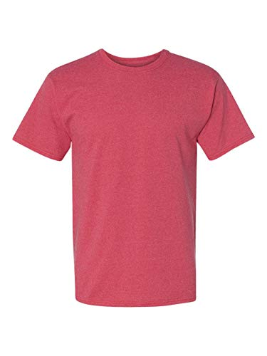 Hanes ComfortBlend EcoSmart Crewneck Mens T-Shirt, Heather Red, Large