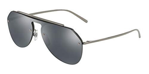 Dolce & Gabbana Men's DG2213 Gunmetal/Grey Mirror Black One Size