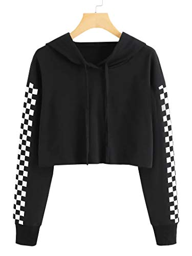 crop hooded sweatshirt - 6